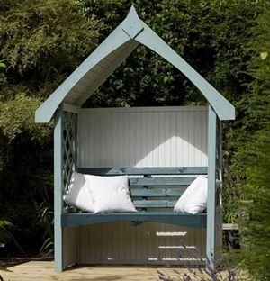 Forest Garden Blenheim Wooden Garden Arbour Seat