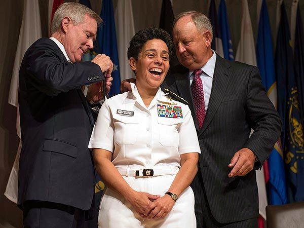 Admiral Michelle Howard Becomes Highest-Ranking Female Officer in U.S. Navy History - Military and Soldiers : People.com