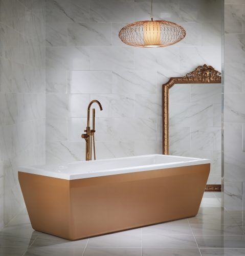 Copper panelled bath from Utopia Bathrooms.
