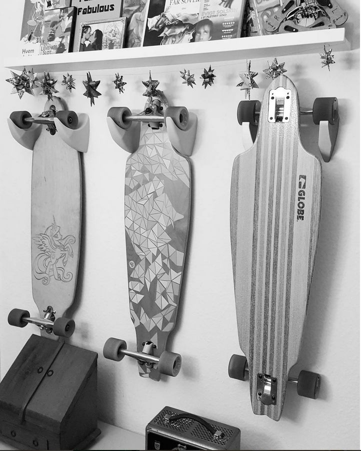 Skateboard mounts  A mount for my skateboards and longboards