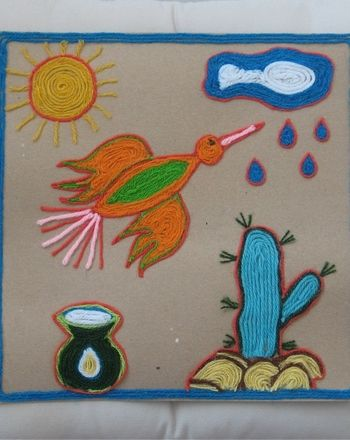 Activities: Create a Mexican Inspired Yarn Picture - Fun activity for kids~