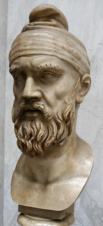 Cabeza de un dacio de la época de Trajano (siglo II d.C.) procedente del foro de Trajano. Actualmente en los Museos Vaticanos.