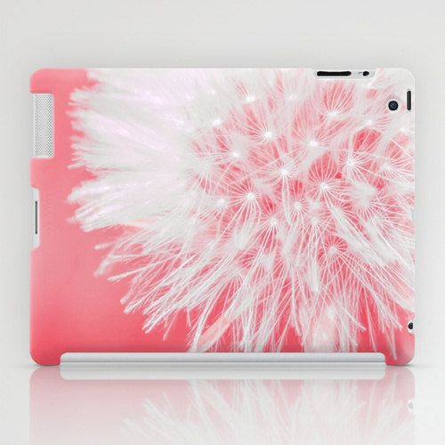 Pink Dandelion - iPad Case (2nd, 3rd, 4th Gen) - iPad Mini CASE - iPad Mini Skins - Modern Gift For Her - Floral Design Cases and Skins
