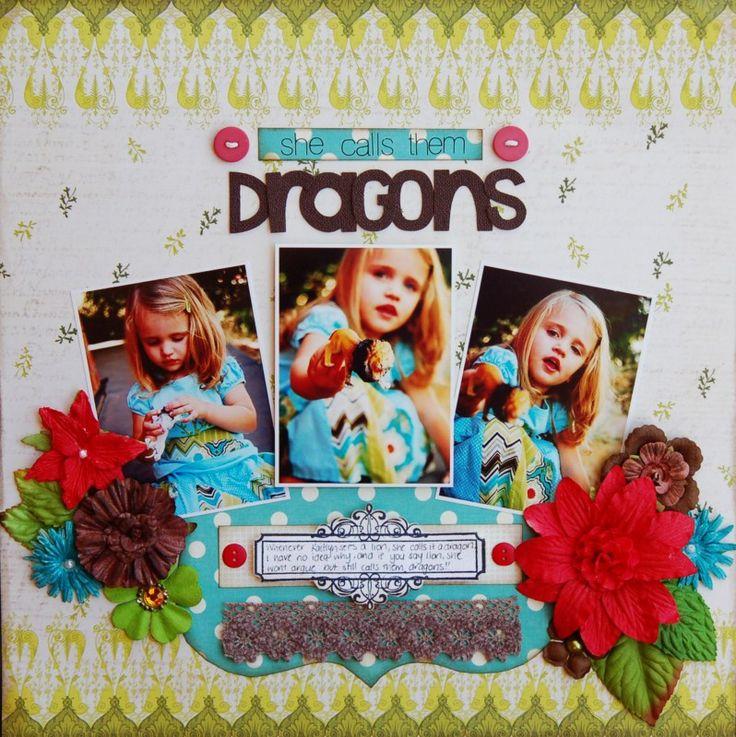 She Calls them Dragons *Prima* - Scrapbook.com