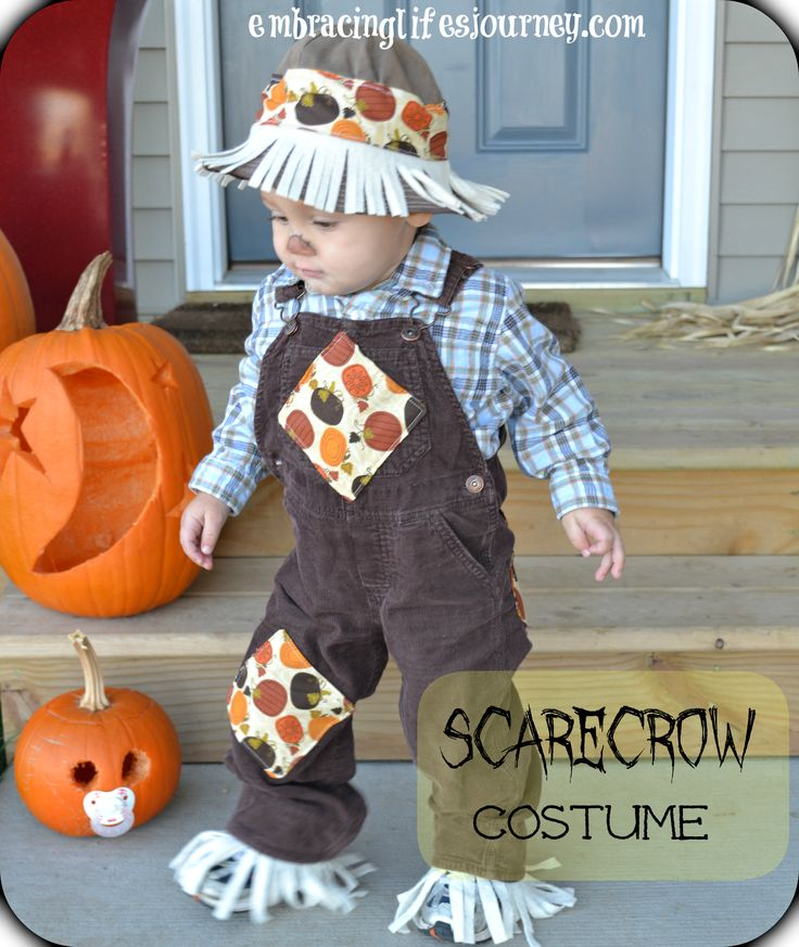 Easy toddler scarecrow costume...my super talented friend made this costume, it was the cutest costume!!