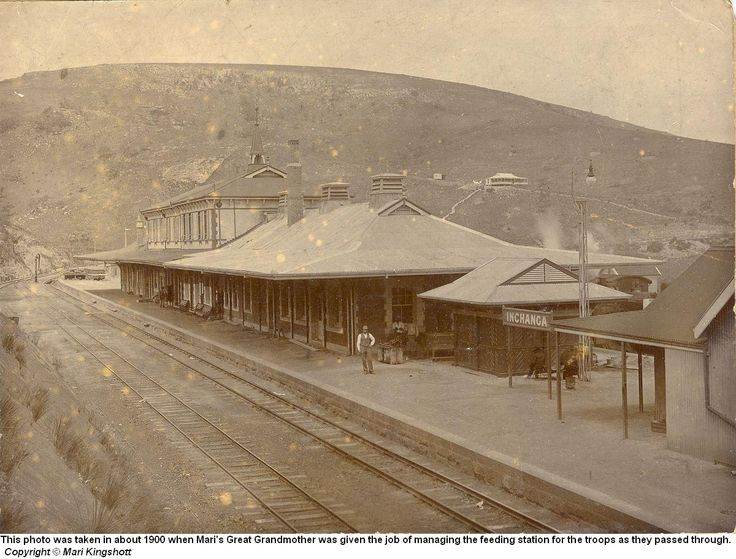 Inchanga Railway Station as it appeared during the Boer War in 1900.