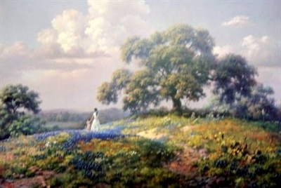 Texas Art Mart. Hill Country Florescence by Artist Dalhart Windberg
