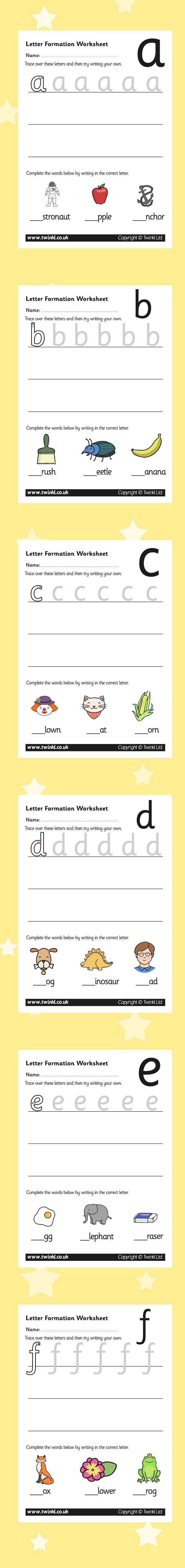 8 best Worksheets images on Pinterest | Vorschulideen, Briefe lehren ...