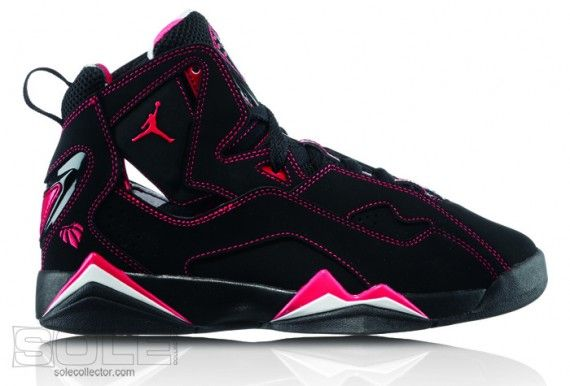 Michael Jordan Shoes For Girls | Girls Jordan TruFlt Blk CorRos 570x386 Jordan Brand Boys & Girls ...