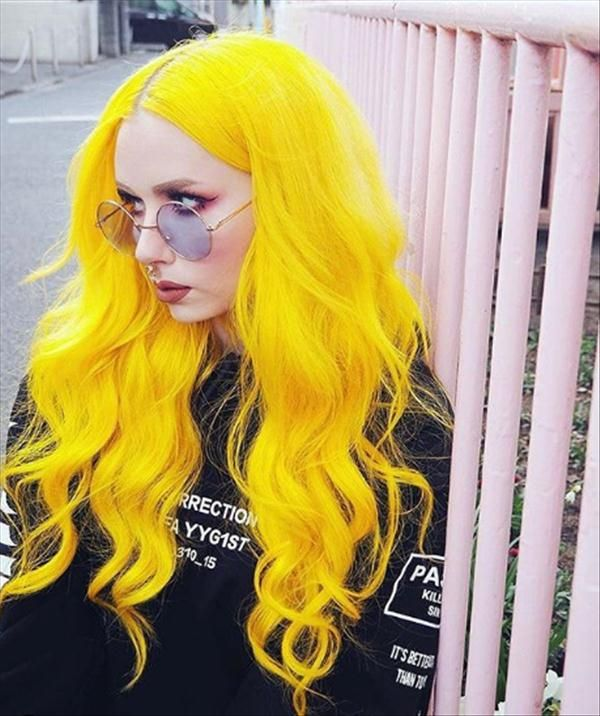 Trend Of Hair Color In 2020 Latest Fashion Trends For Girls Hair Styles Neon Hair Color Yellow Hair Color