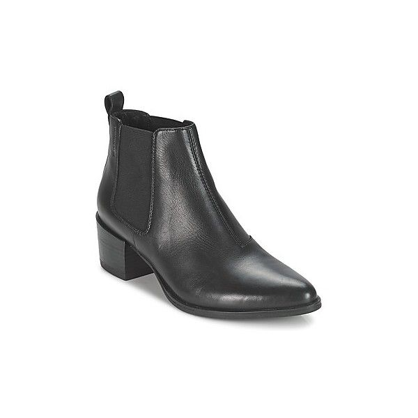 Vagabond EMIRA Low Ankle Boots ($140) ❤ liked on Polyvore featuring shoes, boots, ankle booties, black, low boots, women, vagabond boots, low ankle boots, bootie boots and black booties
