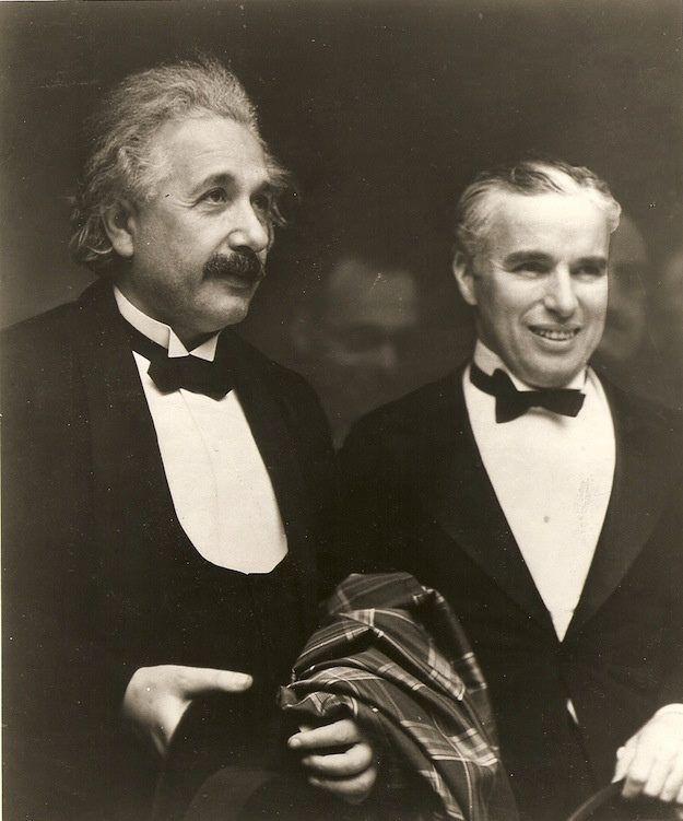 Albert Einstein and Charlie Chaplin (rare photo)