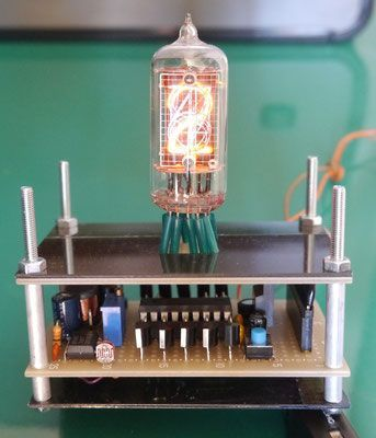 自作 CD611桁ニキシー管時計  DIY CD61 1digit nixie tube clock
