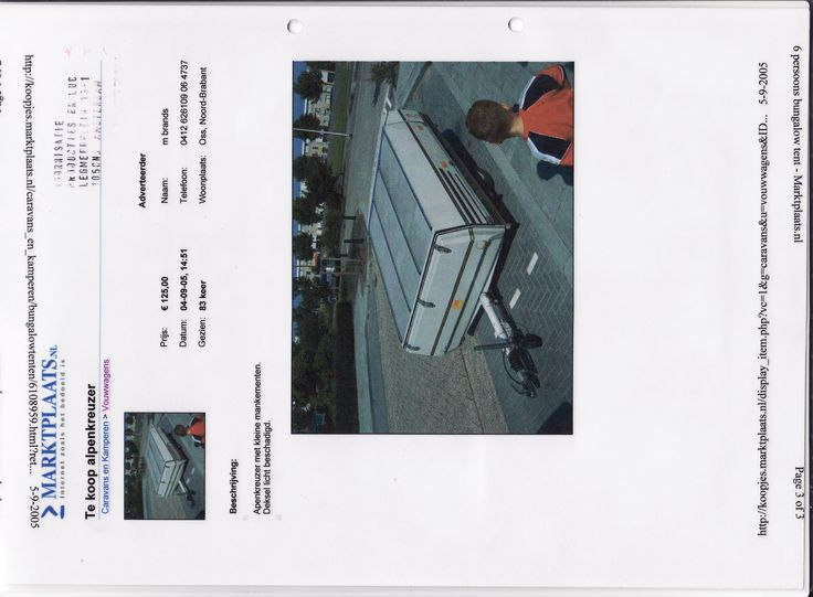 Installation and performance art on location Blijburg aan Zee, summer 2005, the folding trailer brokers window advertisement. Concept: Yvette van der Does