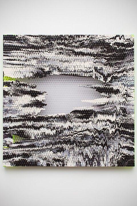"Eva Speer Triangulation 2013 cast resin, plexiglas, latex paint 26x26x2.25"""