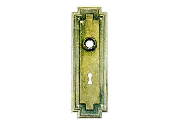 Vintage Door Plate Salvage Antique Salvaged Door Hardware Architectural Salvage Brass Door Plates Vintage Door Plates  sc 1 st  Pinterest & 23 best Vintage Door Back Plates images on Pinterest | Vintage ...