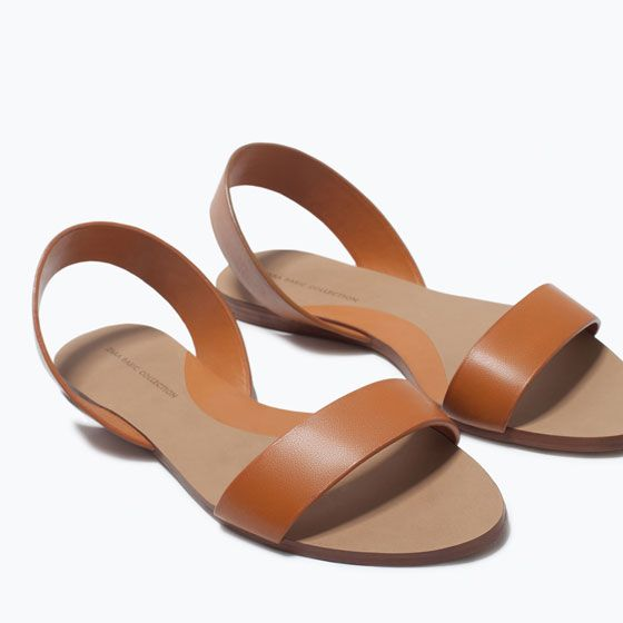 FLAT LEATHER SANDALS-Shoes-Woman-SHOES & BAGS | ZARA Croatia
