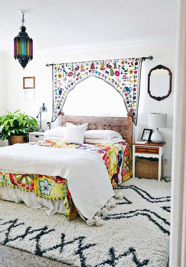 dormitorio marroqui colores brillantes