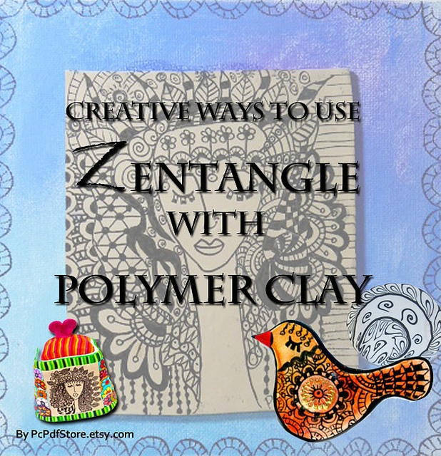 Zentangle with Polymer Clay