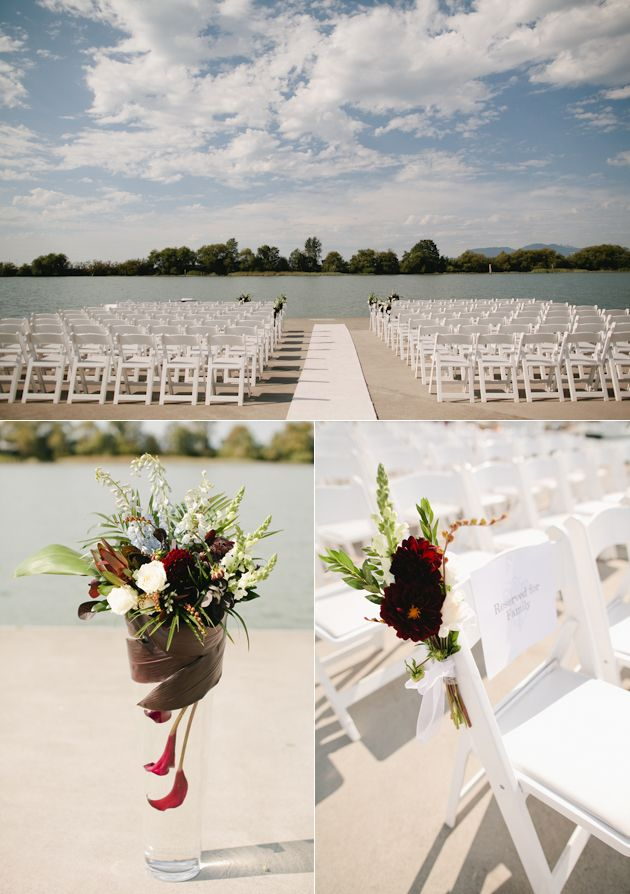 Have always loved the waterfront setting of the UBC Boathouse for wedding ceremonies.  Bonus: I grew up nearby and it feels like my old backyard! Florist: The Flower Box  Vancouver, BC  http://www.theflowerbox.ca