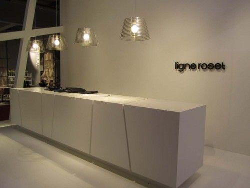 Ligne Roset contemporary clean white reception desk - Milan Furniture Fair 2011