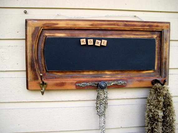 Coat and accessory magnetic chalkboard message by jensdreamdecor, 74.50