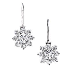 Harry Winston Sunflower wire drop earrings.