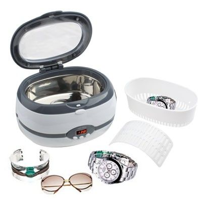 Stainless Steel Tank Digital Ultrasonic Cleaner with LCD Display for Jewelry / Watch / Denture (Gray)