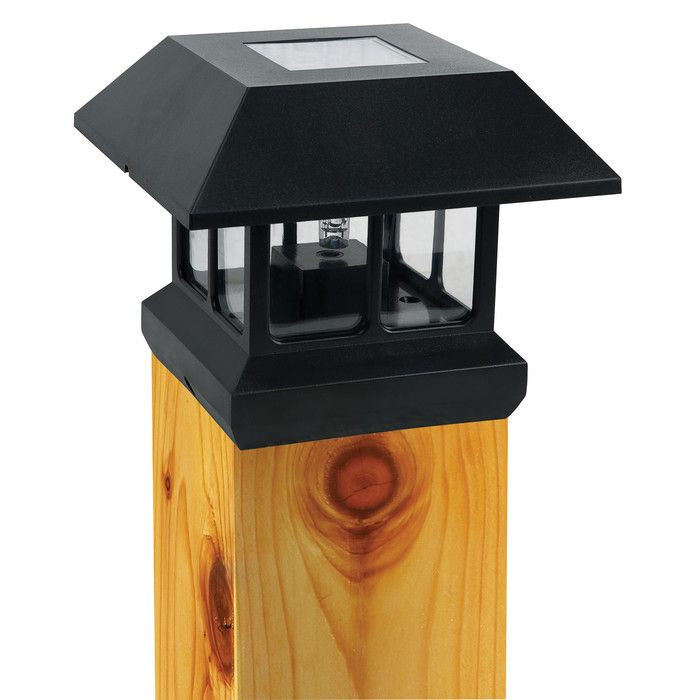 Paradise Garden Lighting Solar 1 Light Fence Post Cap & Reviews | Wayfair