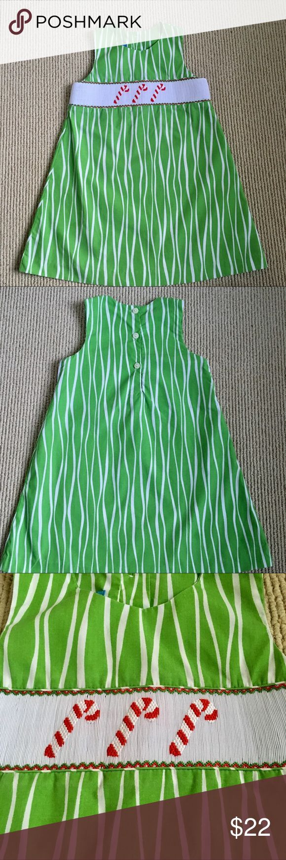 Toddler Hand Smocked Christmas Dress This hand-smocked candy cane dress is so cute with a simple turtleneck or blouse underneath. In excellent used condition. Anavini Dresses Casual