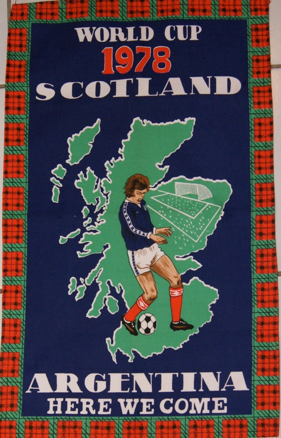 World Cup 1978 Scotland Argentina Here We Come by JenAntoinette, etsy