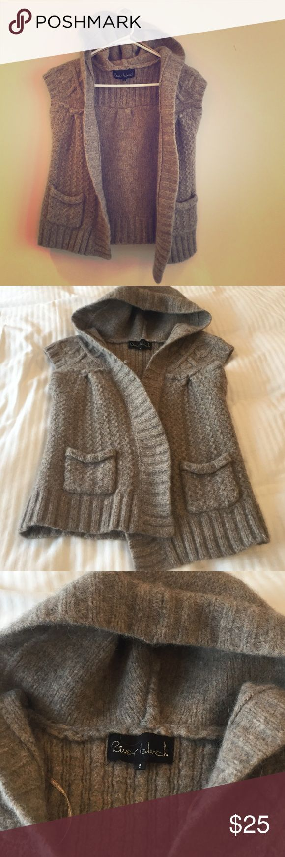 River Island wool vest size 8 River Island Lambswool Vest, Size 8 (can) runs small, missing buttons on the front, hardy worn! River Island Jackets & Coats Vests