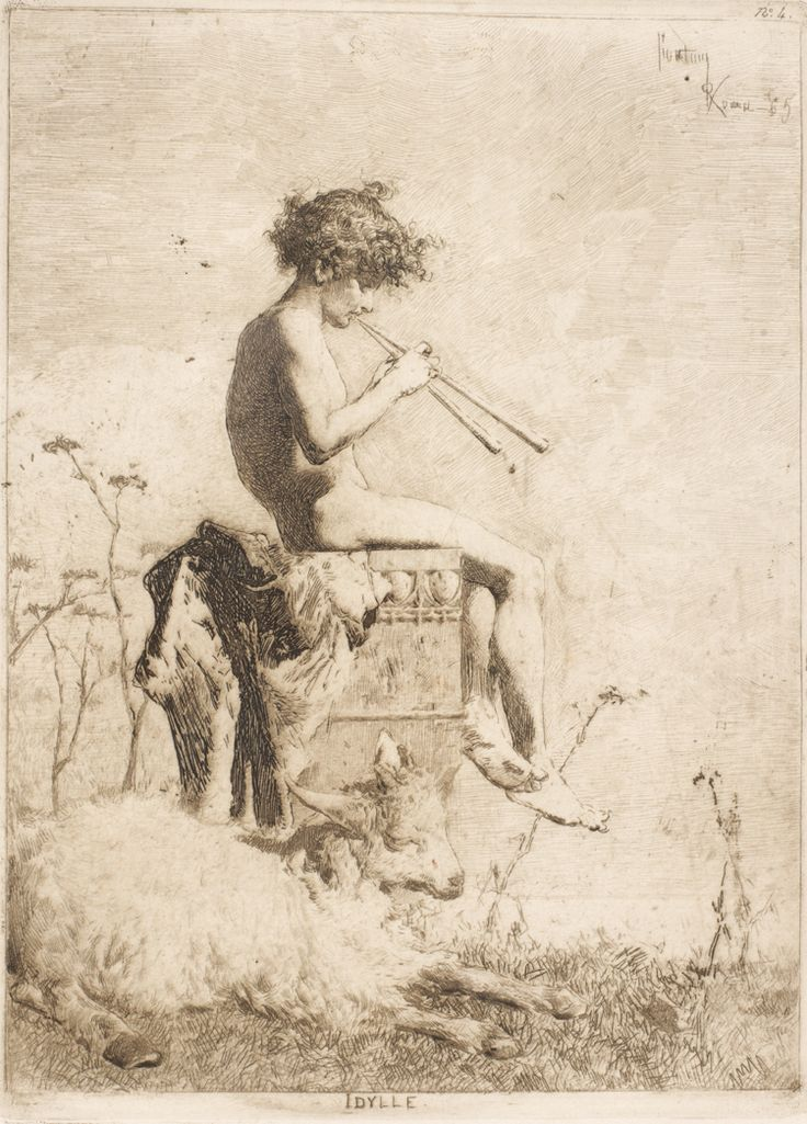 "MARIANO FORTUNY Y MARSAL ""Idylle"", 1865"