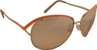 Rocawear Women's R405 GLDOR Aviator Sunglasses,Gold and Orange Frame/Gradient Brown Flash Lens,one size Rocawear. $36.00