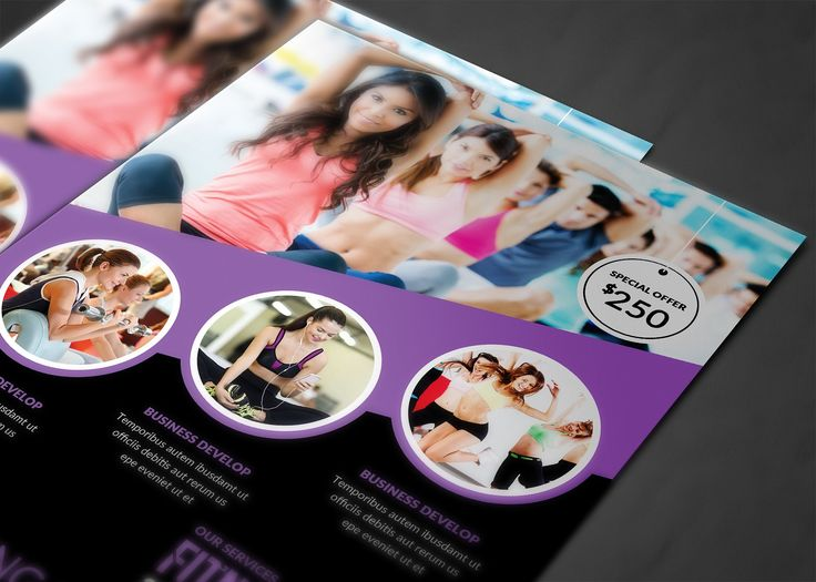 Fitness Flyer by AfzaalGraphics on @creativemarket