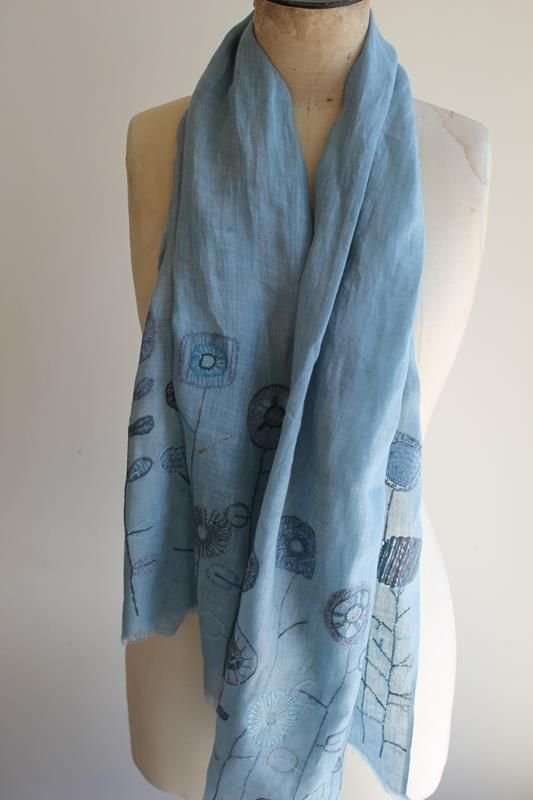 sophie digard hand embroidered linen wrap.  Shop the scarves on http://thecreatory.bigcartel.com/