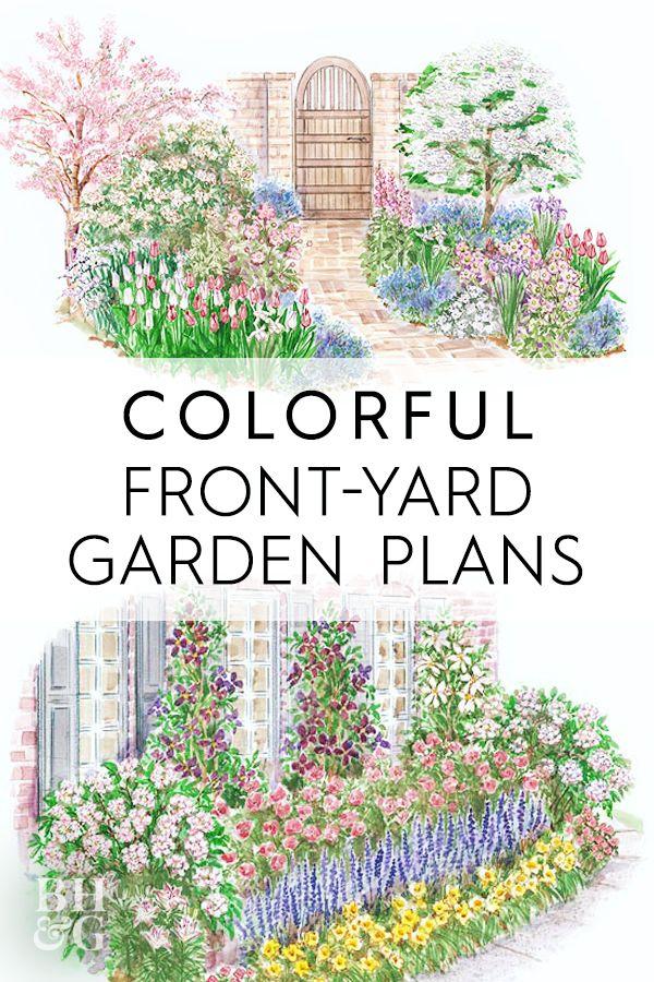Colorful Front Yard Garden Plans Front Yard Garden Garden