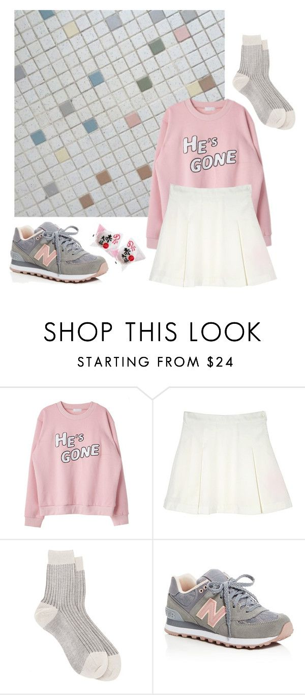 """a song of hero"" by springguk ❤ liked on Polyvore featuring Maria La Rosa and New Balance"