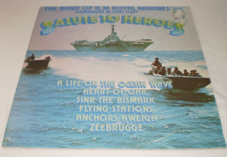 BAND OF HM ROYAL MARINES Salute To Heroes LP Vinyl Record 1975 Military Bands