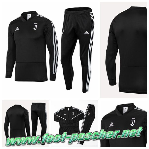 Replique Nouveaux Ensemble Survetement Foot Juventus Noir