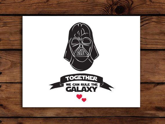 Star Wars Valentine Card Printable Darth By Somebodylovedshop