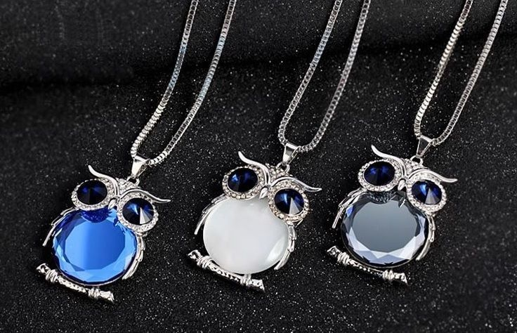 Women Necklace Silver Chain Long Necklaces Pendants Crystal Jewelry Gift JW1N022 #Unbranded #Trendy