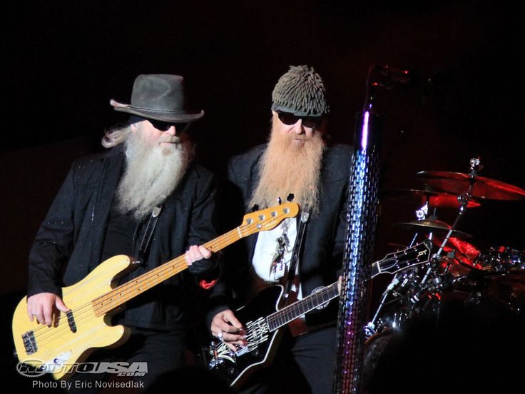 Dusty Hill and Billy Gibbons of ZZTop.