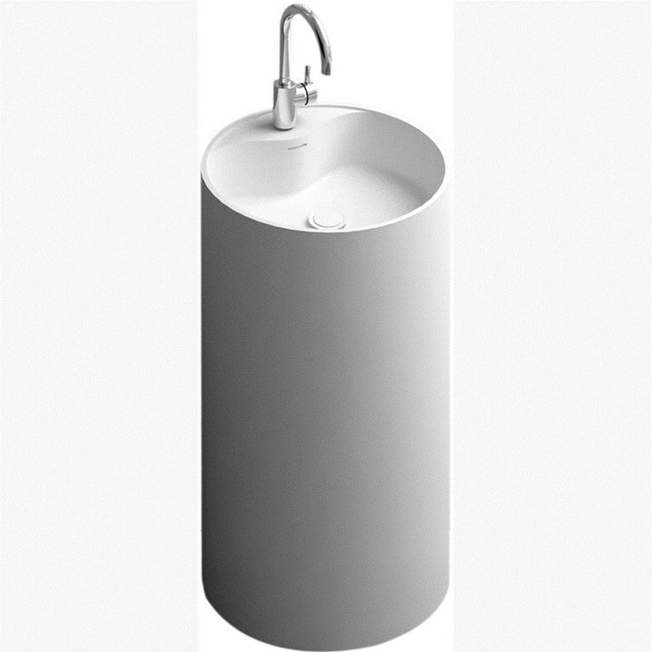 control brand bw1283mw the oasis pedestal sink in white matt