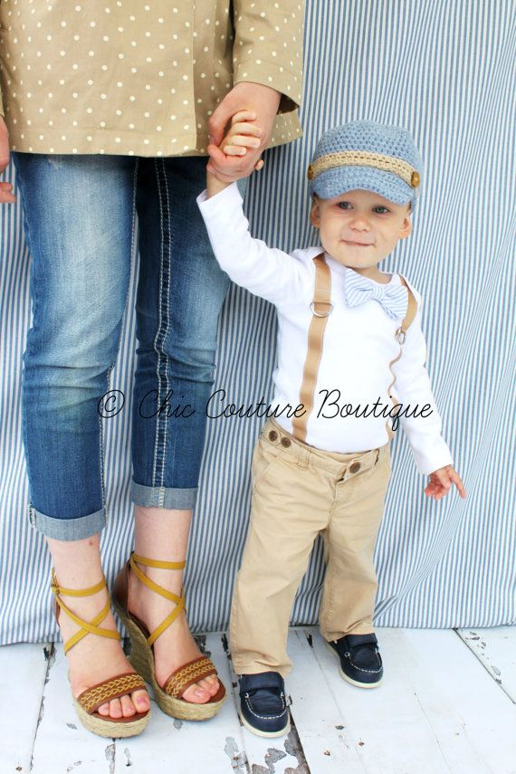Baby Boy Bow Tie & Suspender Bodysuit. Baby Blue Seersucker, Wedding, 1st First Birthday Outfit,Tan Suspenders, Christmas Holiday Fall