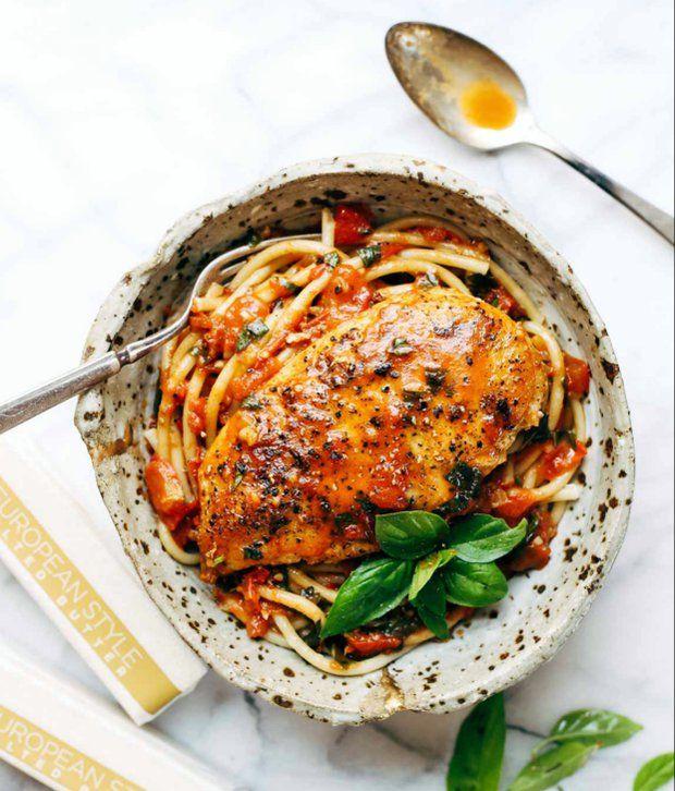 Kuřecí prsa s rajčatovo-máslovou omáčkou