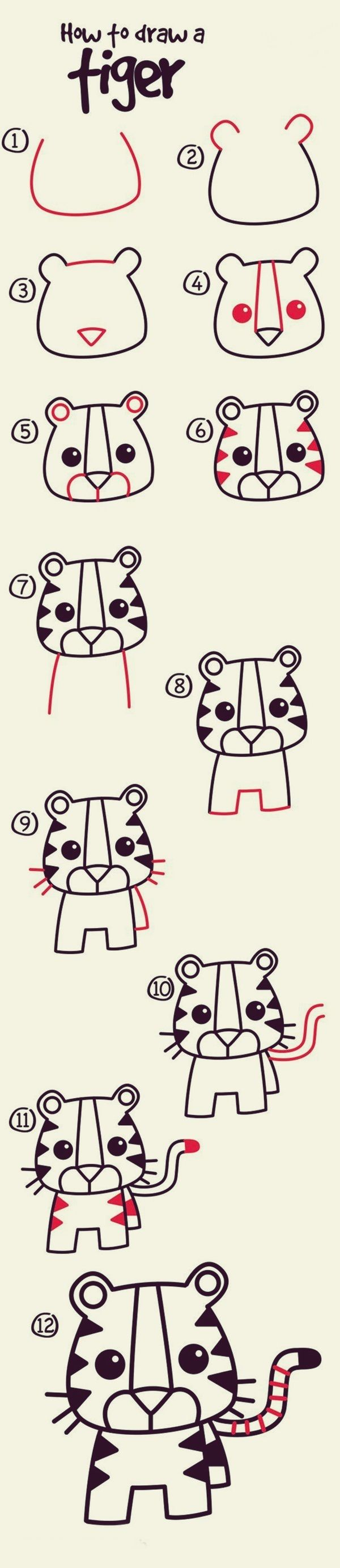How to draw cute animals 40 examples