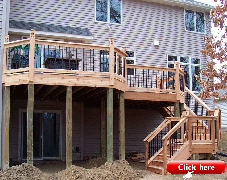 25 Multi Level Deck Design Ideas For Exciting Parties 2019 Deck Ideas Backyard Patio Designs Building A Deck Backyard Design Layout