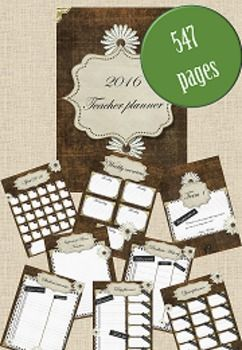 This beautiful Rustic French Inspired 2016 Teacher Planner is a great way to start the year. With over 500 pages of planning material all laid out week by week, term by term. You will be all sorted for the year to come.This download includes:- Beautiful French inspired front cover- Binder dividers for each term with inspirational quotes on each- Individual monthly overviews for all 12 months- Weekly overview complete with 5 days working days- Year planner with all 12 months for easy viewing…