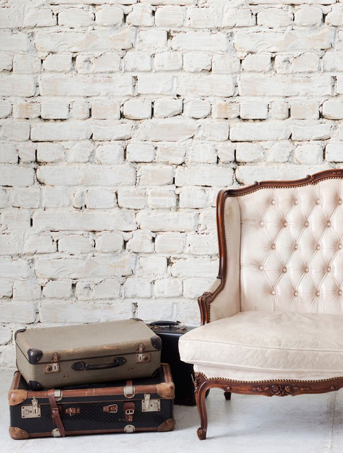 FauxBrick: Faux Texture Wallpaper from Shelf/Life via Interiors Addict